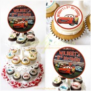 Cars Cupcakes on Tier